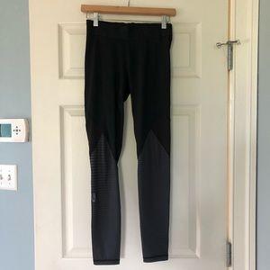 adidas alphaskin legging / black & grey / small